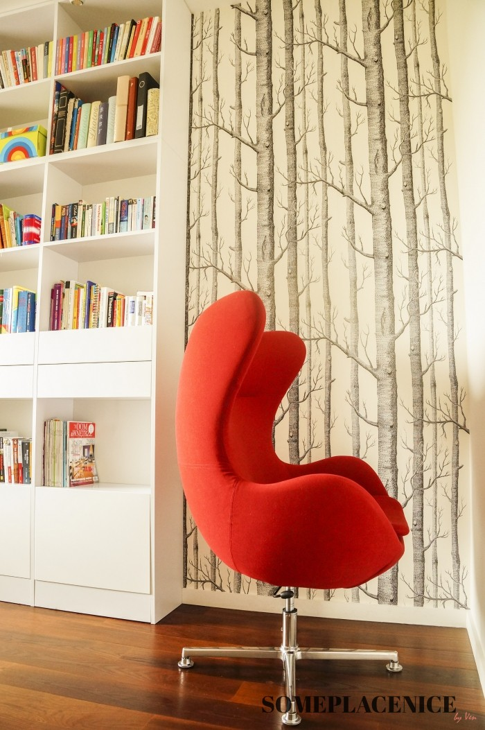 biblioetka-egg-chair-tapeta-skandynawska